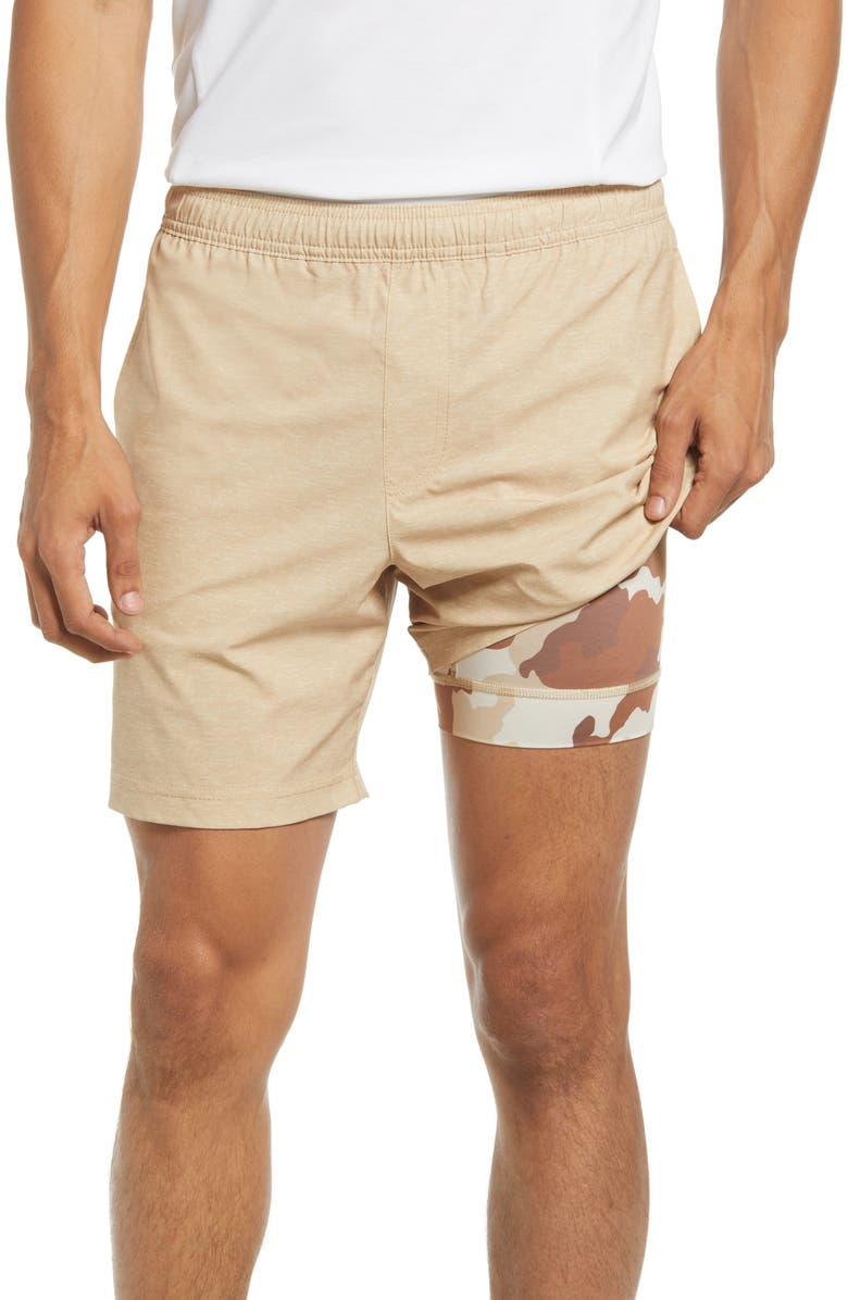 CHUBBIES The Quests Athletic Shorts, Main, color, LIGHT BEIGE