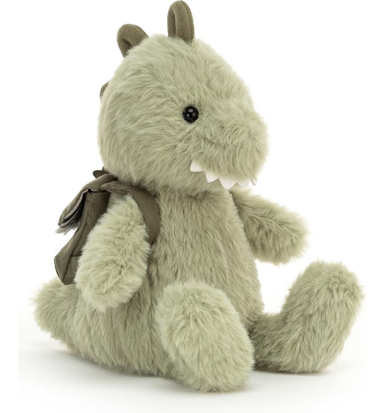 JELLYCAT Backpack Dino Stuffed Animal, Main, color, GREEN