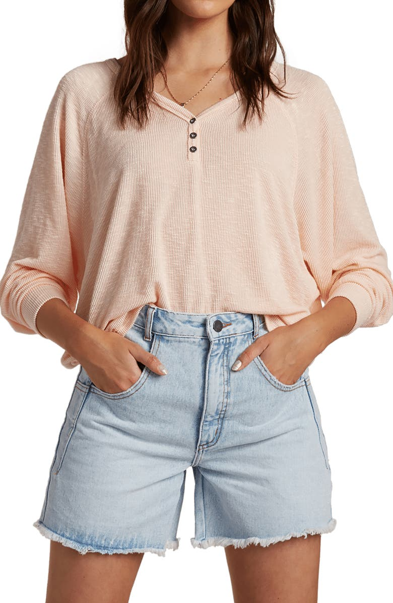 BILLABONG From Here Ribbed Top, Main, color, TROPICAL PEACH