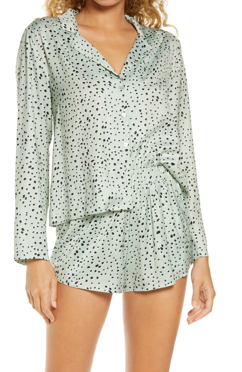SALTWATER LUXE Floral Short Pajamas, Main, color, 302