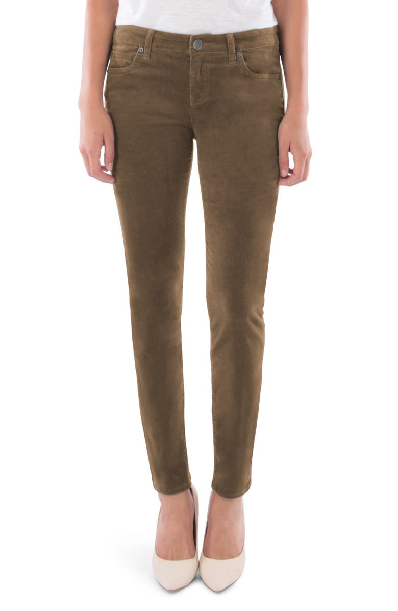 KUT FROM THE KLOTH Diana Stretch Corduroy Skinny Pants, Main, color, TOBACCO BROWN