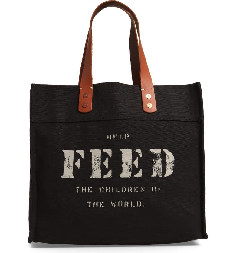 FEED Market Canvas Tote, Main, color, 001