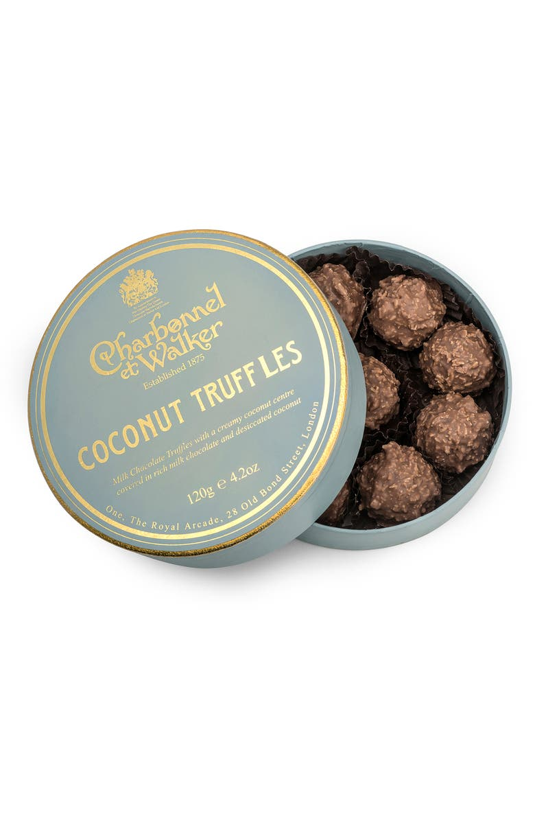 CHARBONNEL ET WALKER Flavored Chocolate Truffles in Gift Box, Main, color, COCONUT