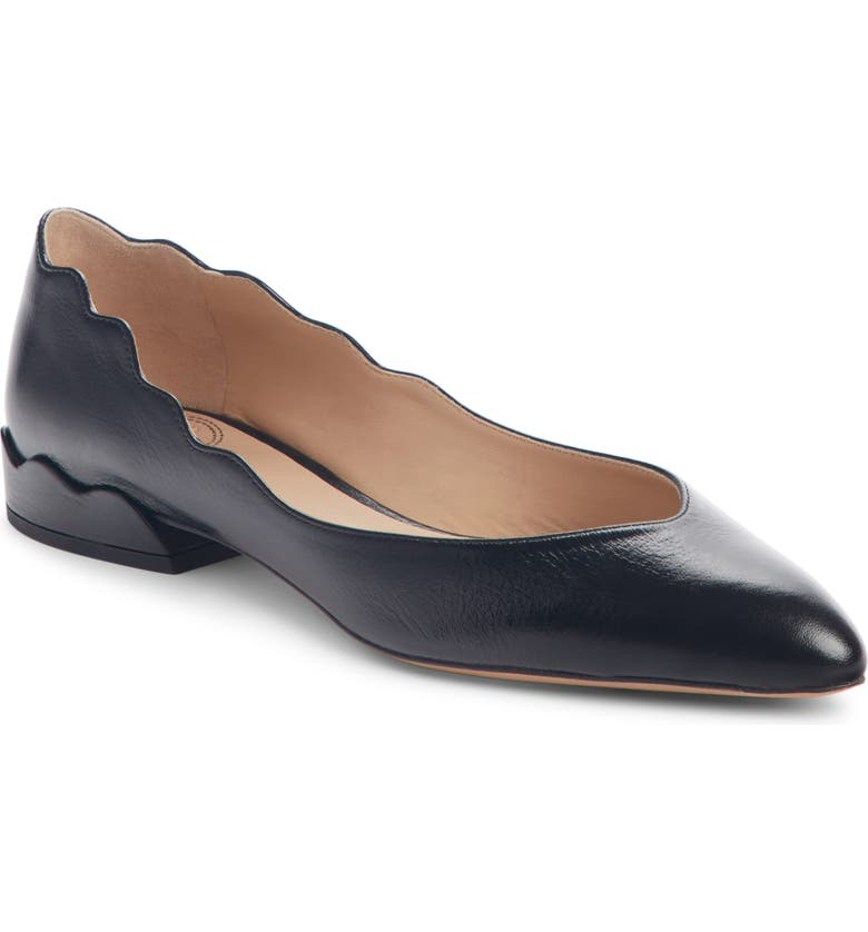CHLOÉ Laurena Scalloped Flat, Main, color, 006