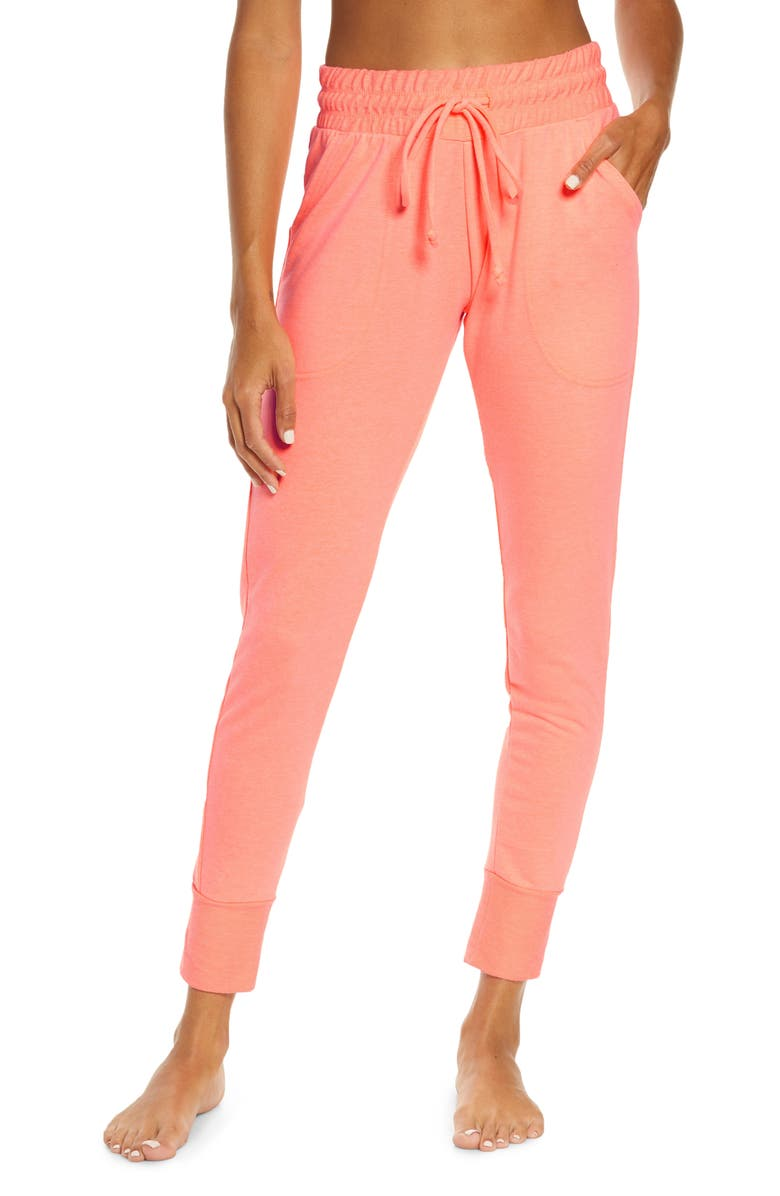 FREE PEOPLE FP MOVEMENT Sunny Skinny Sweatpants, Main, color, FIRECRACKER