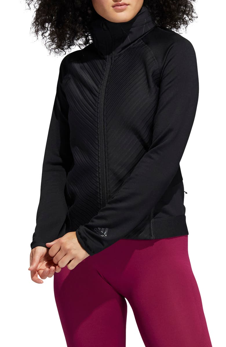 ADIDAS COLD.RDY Hooded Training Jacket, Main, color, BLACK