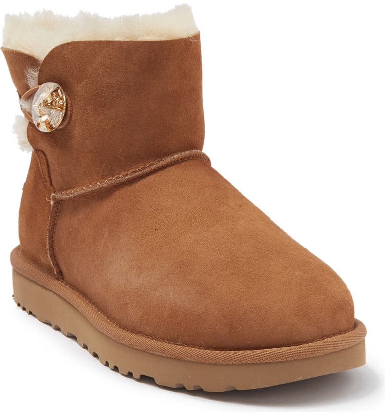 UGG <sup>®</sup> Mini Bailey Button Bling Boot, Main, color, CTGL