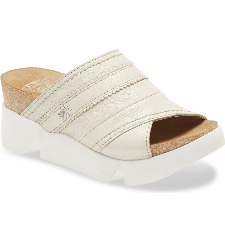 FLY LONDON Suze Slide Sandal, Main, color, OFF WHITE MOUSSE LEATHER
