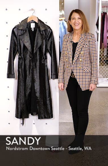 Faux Patent Leather Trench Coat, sales video thumbnail