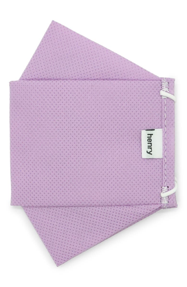 HENRY Adult Pleated Face Mask, Main, color, LILAC