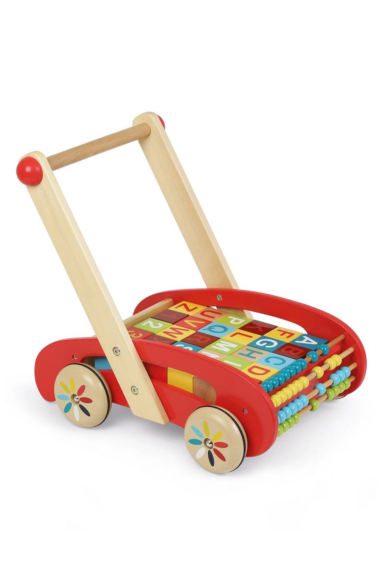 JANOD ABCWooden Block Buggy, Main, color, 600