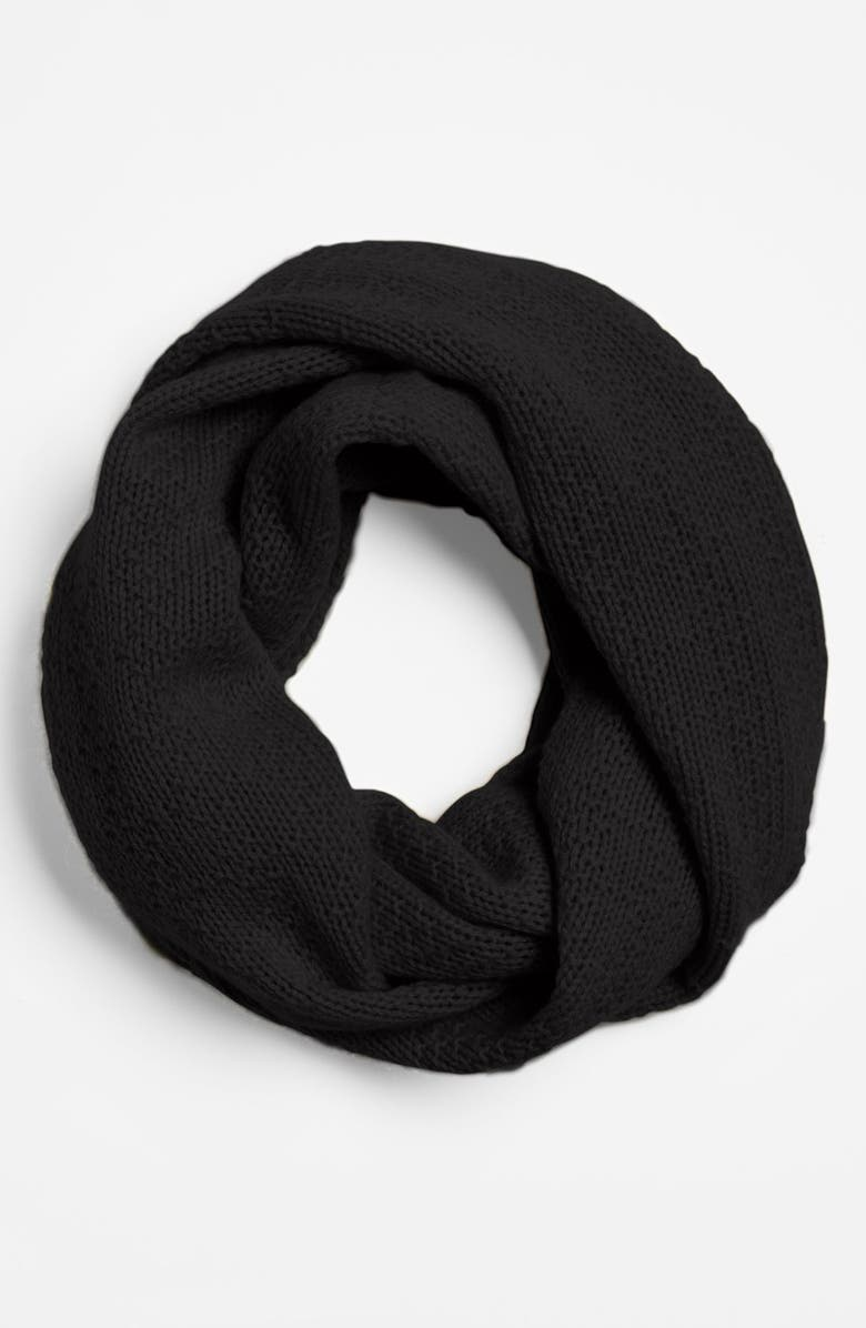NORDSTROM Pointelle Knit Cashmere Infinity Scarf, Main, color, 001