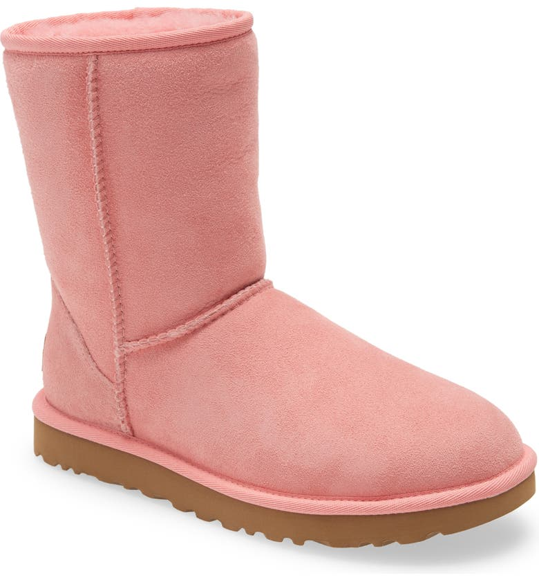 UGG<SUP>®</SUP> Classic II Genuine Shearling Lined Short Boot, Main, color, FLAMINGO PINK SUEDE