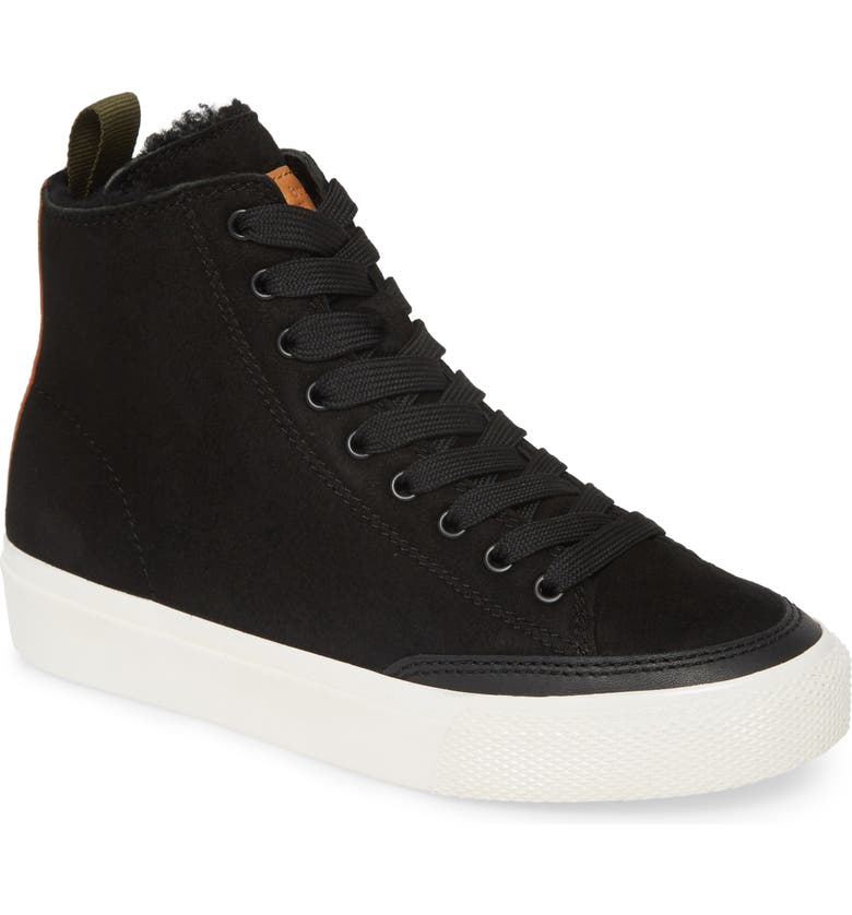 RAG & BONE High Top Sneaker with Genuine Shearling Lining, Main, color, 002