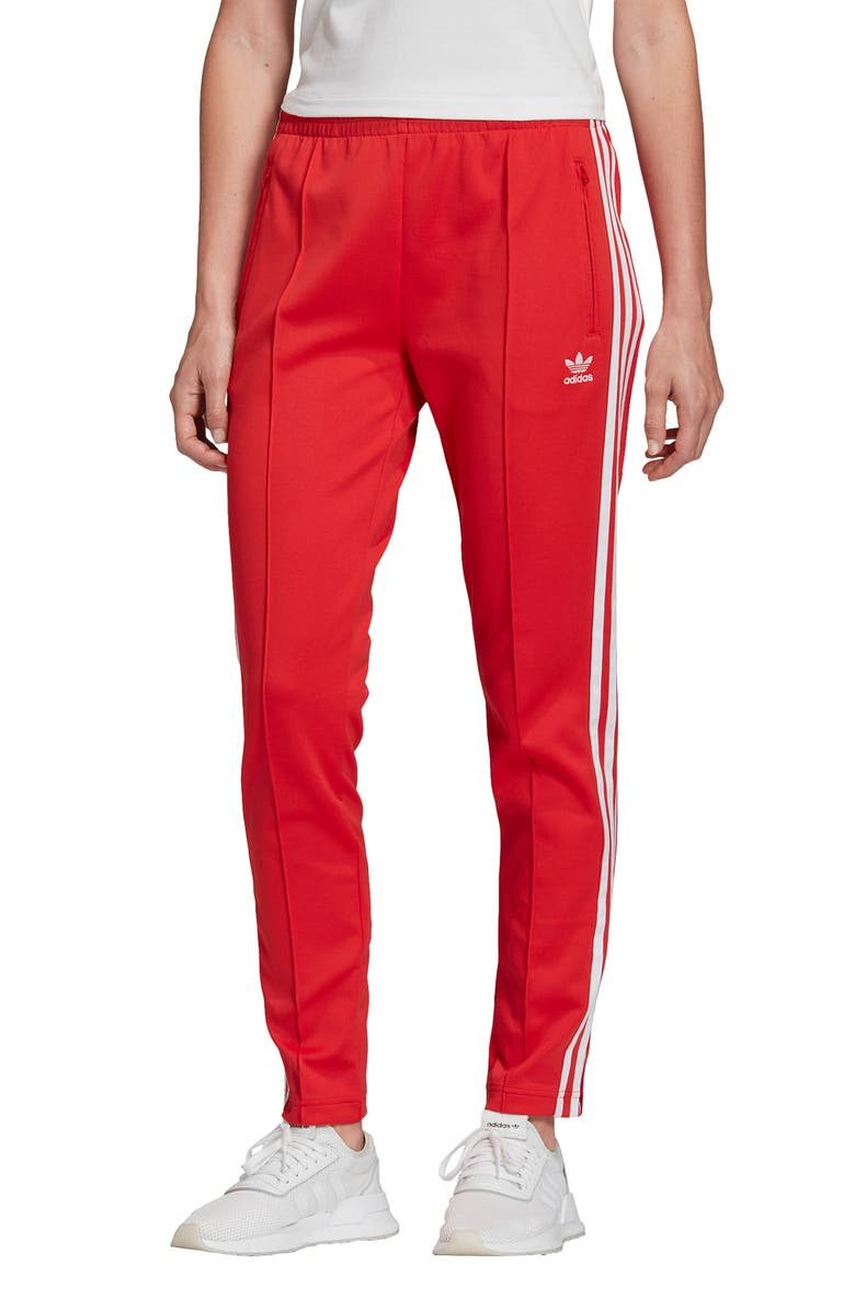 ADIDAS ORIGINALS 3-Stripes Track Pants, Main, color, 621