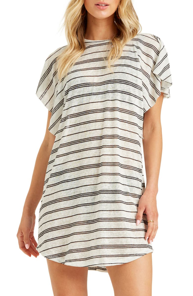 BILLABONG Out for Waves Cover-Up Tunic, Main, color, SALT CRYSTAL
