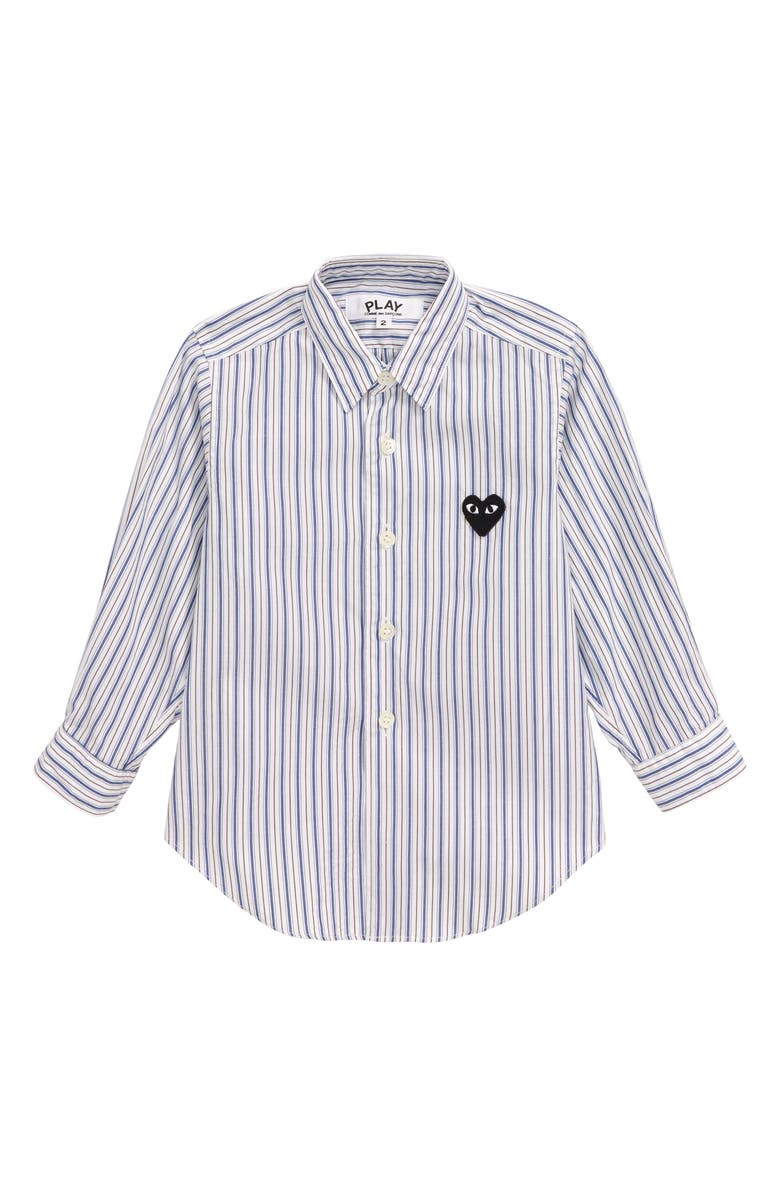 COMME DES GARÇONS PLAY Striped Woven Shirt, Main, color, 400