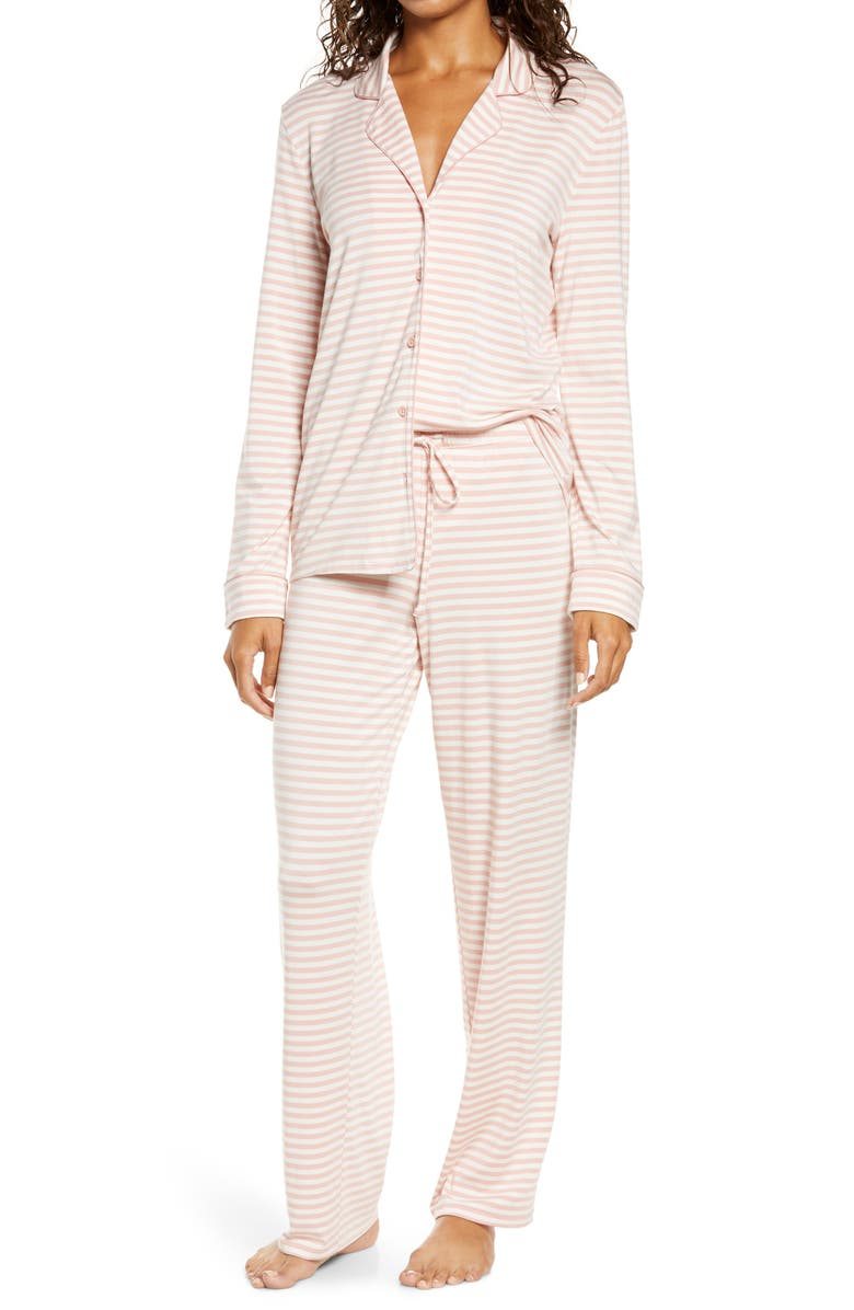 NORDSTROM Moonlight Dream Pajamas, Main, color, PINK TAN EVEN STRIPE