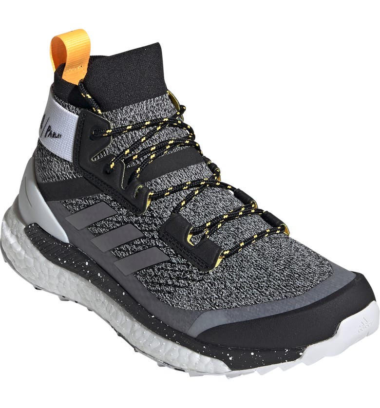 ADIDAS Terrex Free Parley Trail Hiking Boot, Main, color, CRYSTAL WHITE/ SOLAR GOLD