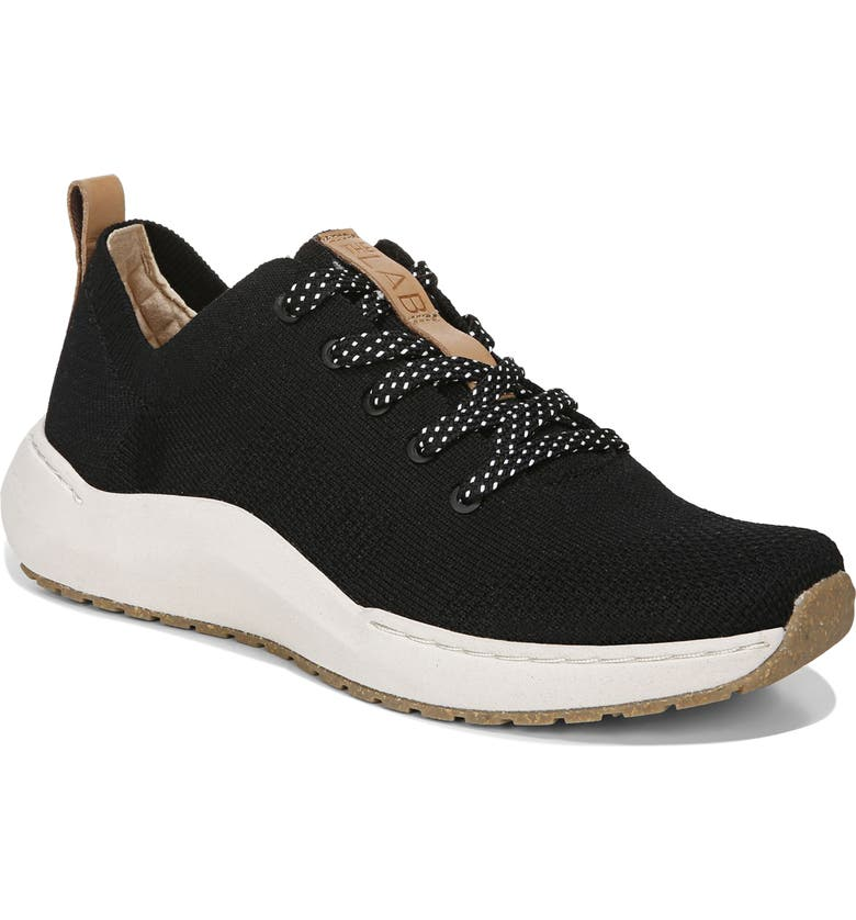 DR. SCHOLL'S Herzog Recycled Knit Sneaker, Main, color, BLACK/ BLACK FABRIC