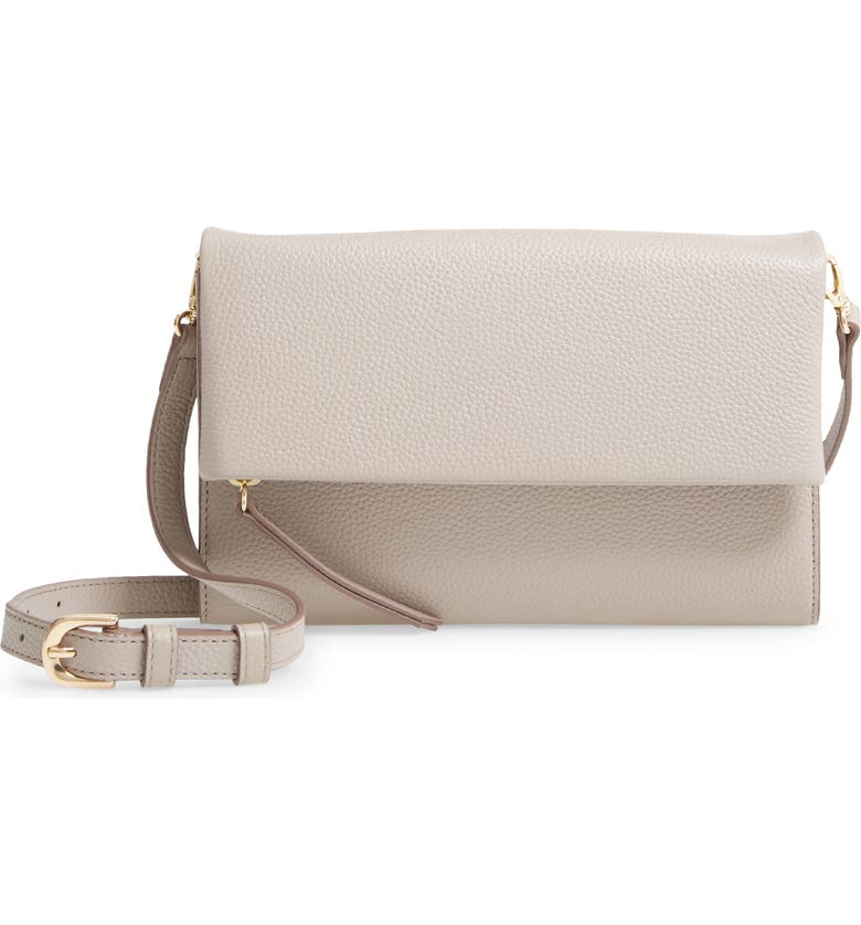 NORDSTROM Eleanor Leather Crossbody Bag, Main, color, TAN CINDER