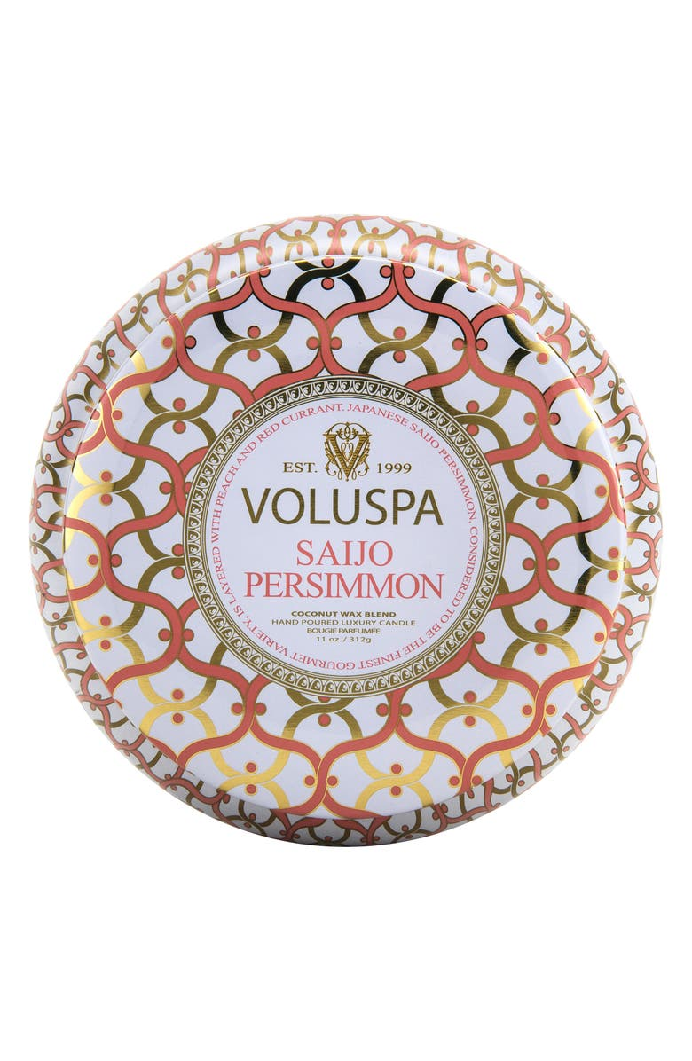 VOLUSPA Maison Blanc Saijo Persimmon Maison Metallo 2-Wick Candle, Main, color, 000
