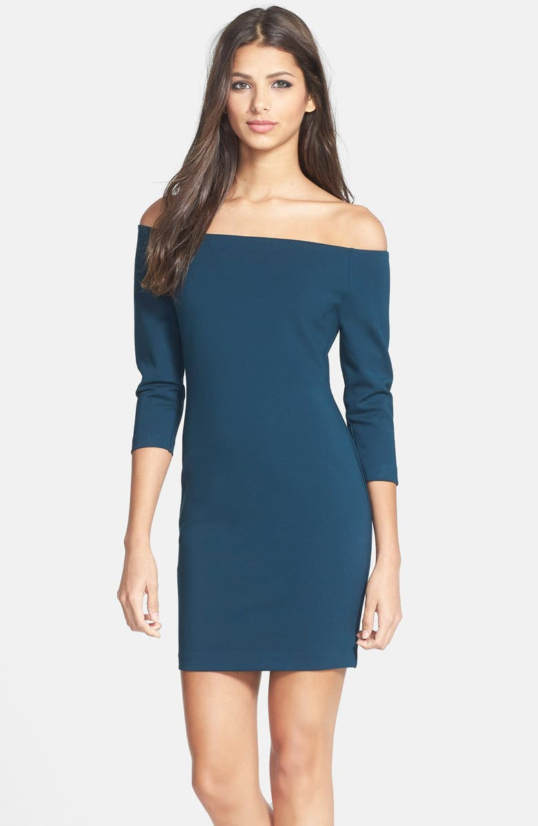 GLAMOROUS Off the Shoulder Body-Con Dress, Main, color, 440
