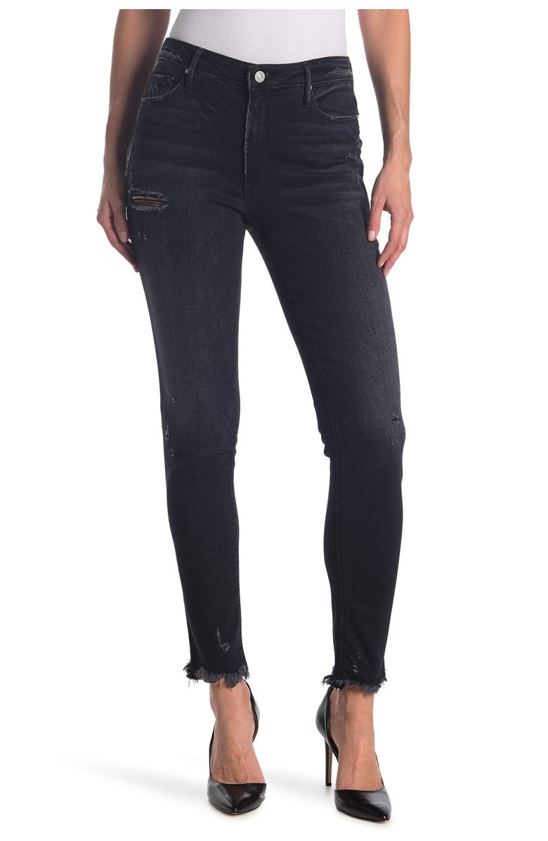 BLACK ORCHID Jude Distressed Mid Rise Super Skinny Jeans, Main, color, DONT CARE