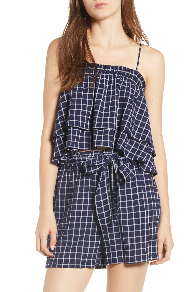 BP. Plaid Tiered Tank, Main, color, 401