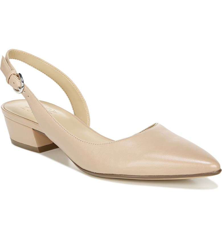 NATURALIZER Banks Slingback Pump, Main, color, BARELY NUDE LEATHER