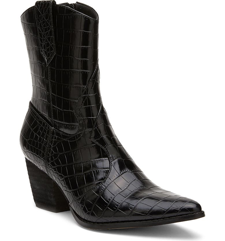 COCONUTS BY MATISSE Bambie Western Boot, Main, color, BLACK FAUX LEATHER