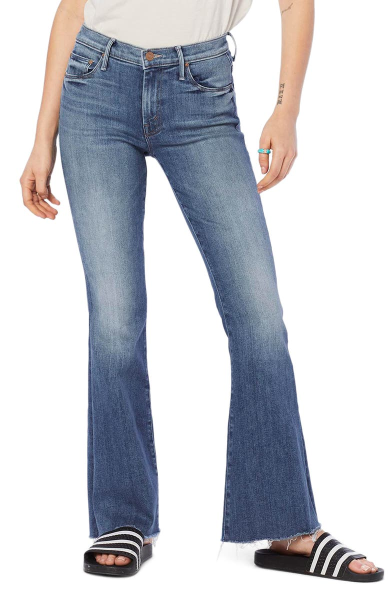 MOTHER Frayed Flare Jeans, Main, color, 420
