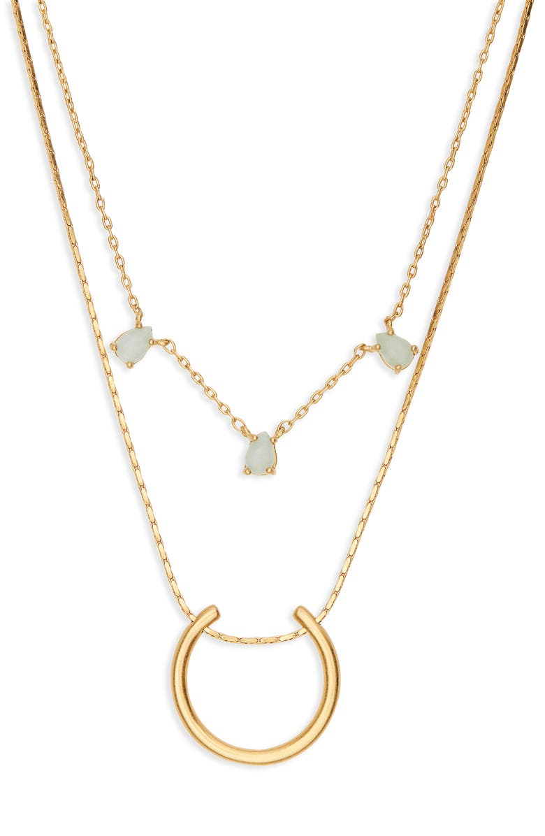 MADEWELL Layered Amazonite Necklace, Main, color, 710