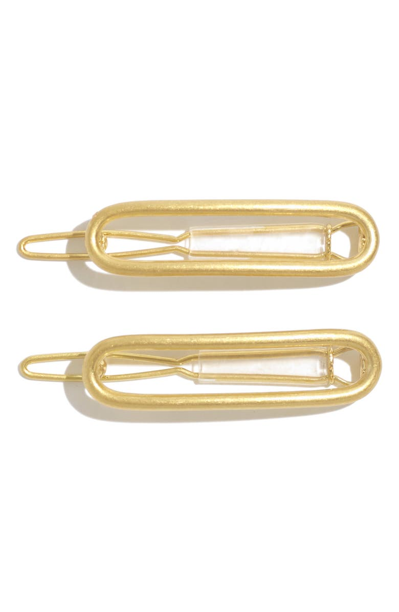 MADEWELL Two-Pack Mini Hair Clips, Main, color, VINTAGE GOLD