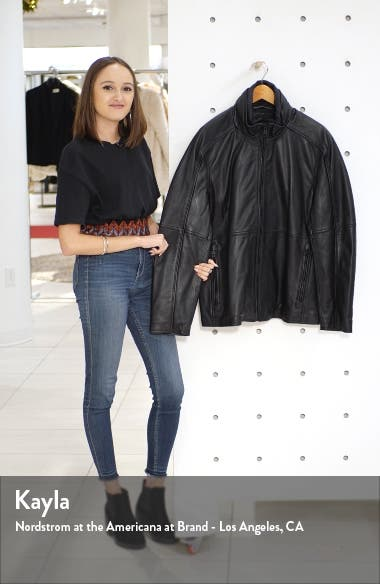 Hartz Leather Jacket with Quilted Bib, sales video thumbnail