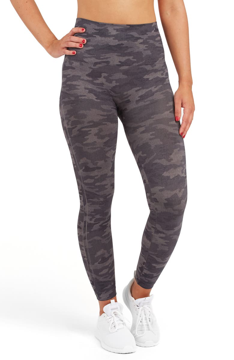 SPANX<SUP>®</SUP> Look at Me Now Seamless Leggings, Main, color, HEATHER CAMO