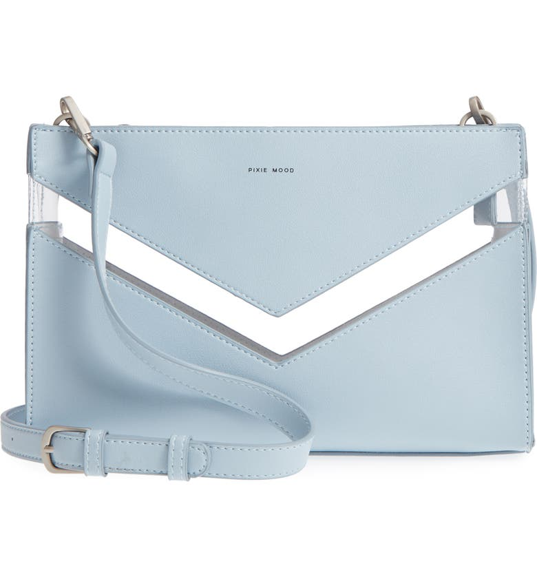 PIXIE MOOD Emily Faux Leather Crossbody Clutch, Main, color, 000