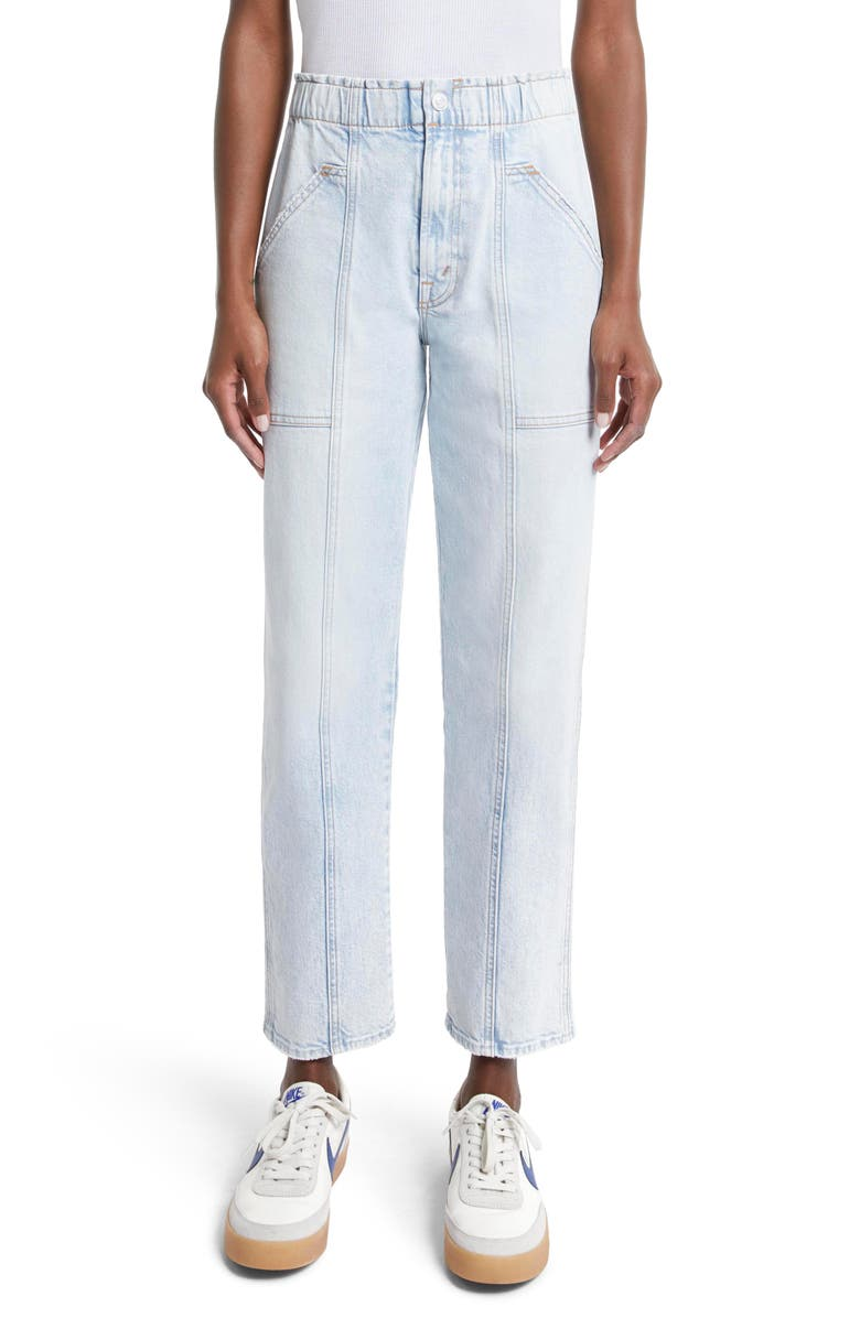 MOTHER The Springy High Waist Ankle Straight Leg Jeans, Main, color, 452