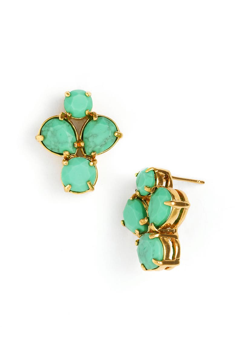 KATE SPADE NEW YORK 'fiorella' cluster stud earrings, Main, color, BRIGHT GREEN