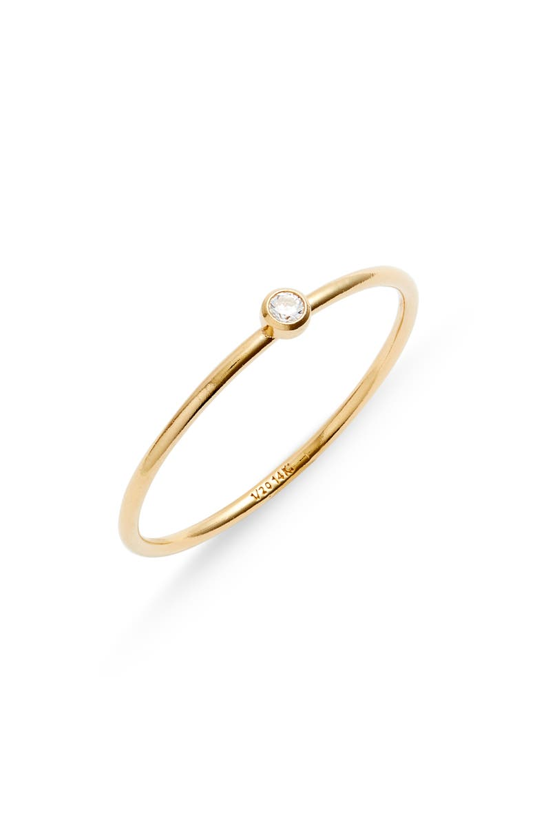 SET & STONES Presley Stacking Ring, Main, color, GOLD/ CLEAR