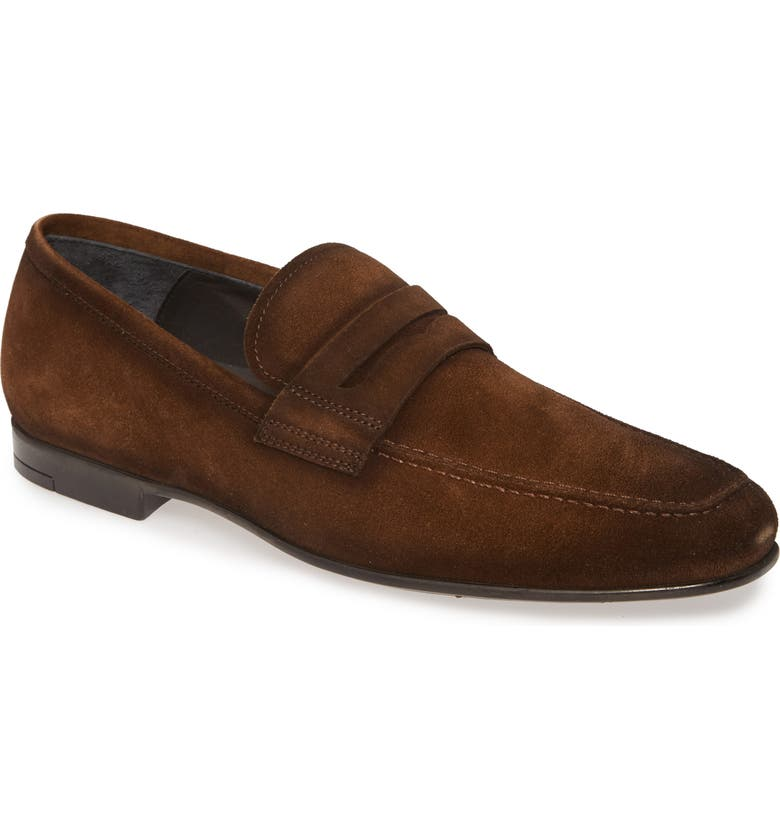TO BOOT NEW YORK Corbin Penny Loafer, Main, color, BROWN