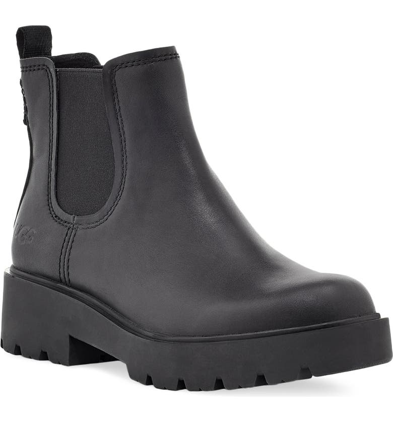 UGG<SUP>®</SUP> Markstrum Waterproof Chelsea Boot, Main, color, BLACK LEATHER