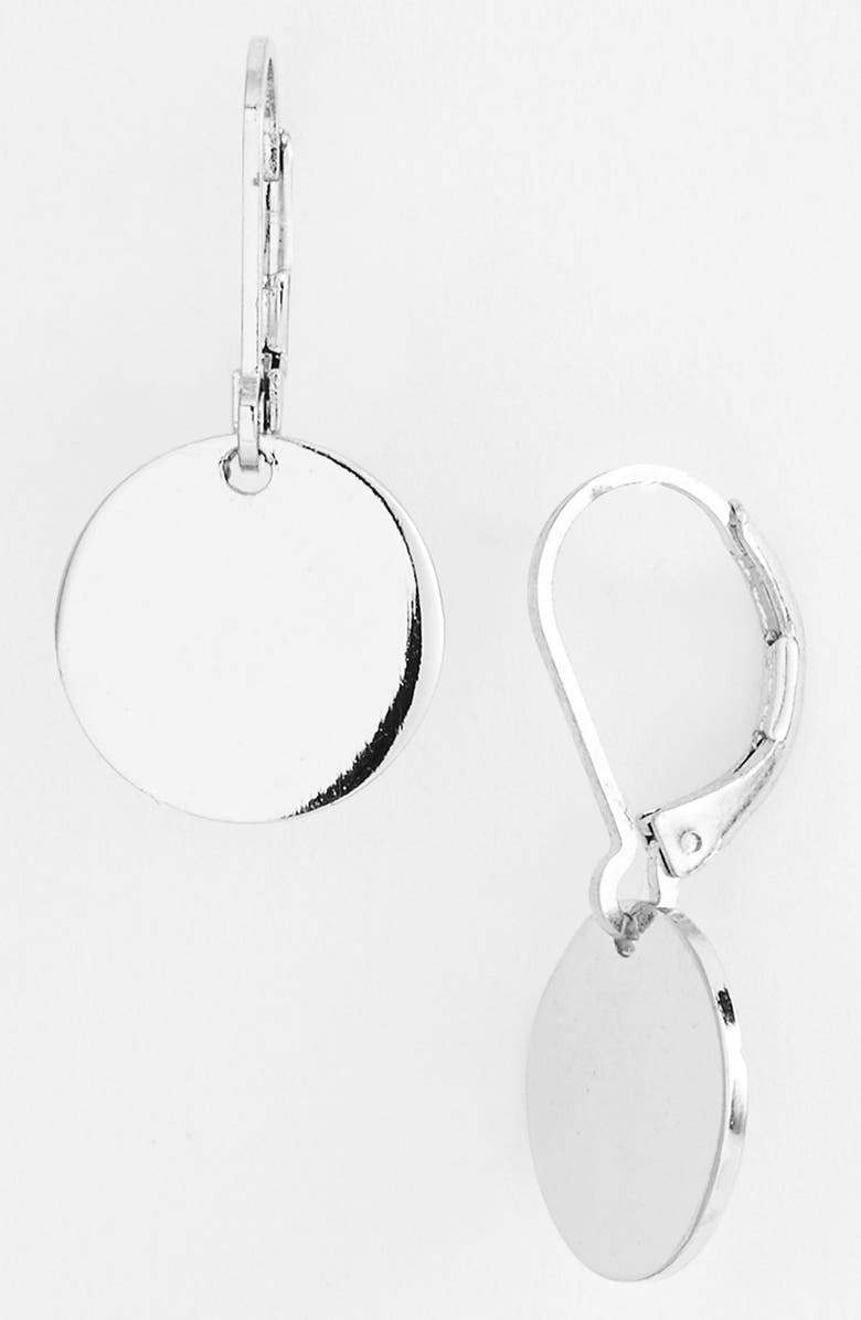 NORDSTROM Disc Drop Earrings, Main, color, Silver