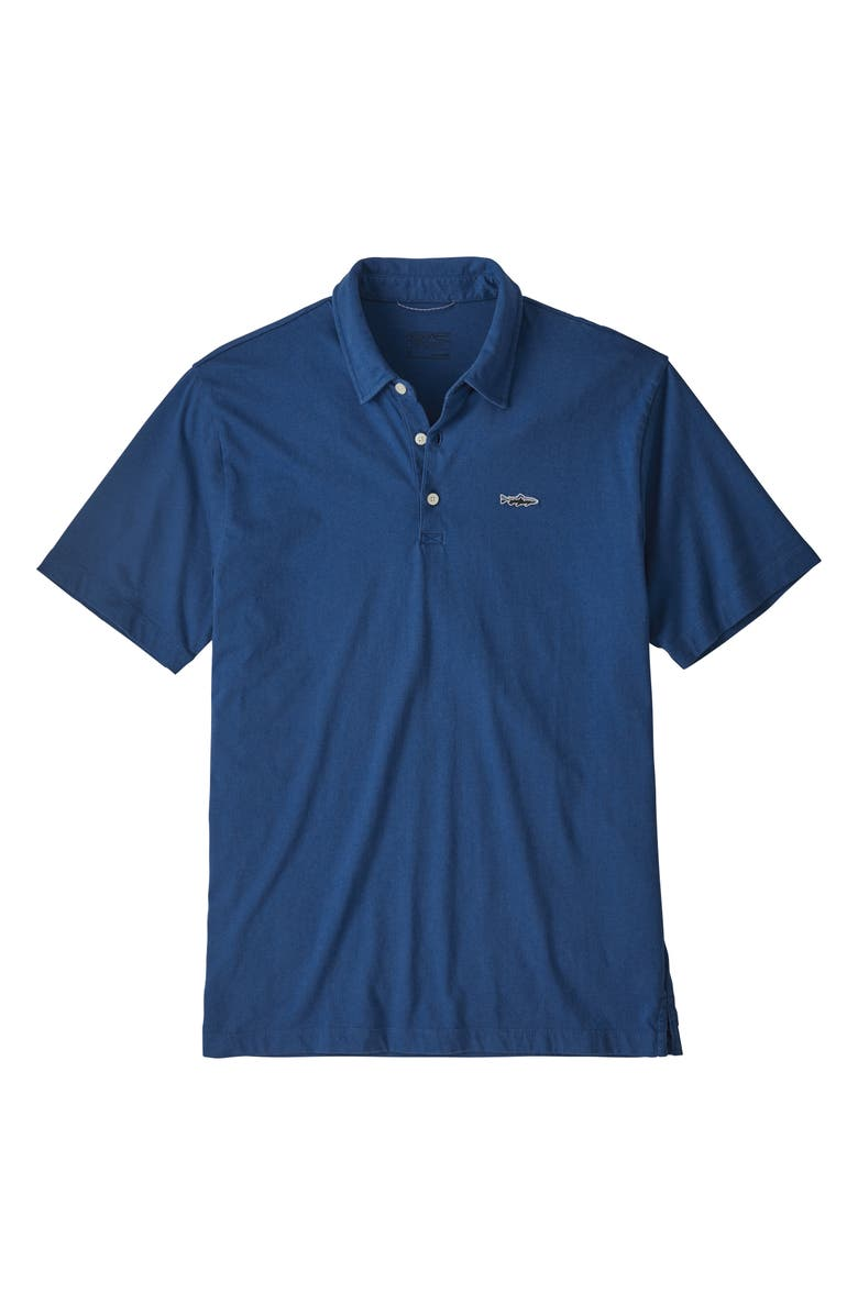 PATAGONIA Trout Fitz Roy Regular Fit Organic Cotton Polo, Main, color, 421