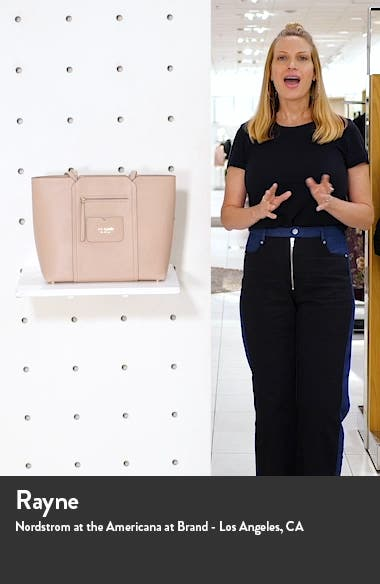 large florence leather tote, sales video thumbnail