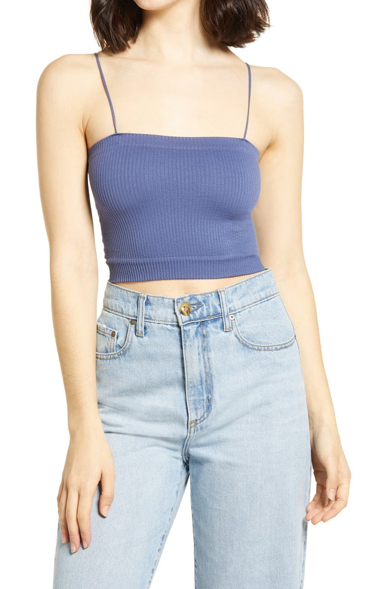 BDG URBAN OUTFITTERS Bungee Strap Tube Top, Main, color, MARLIN BLUE