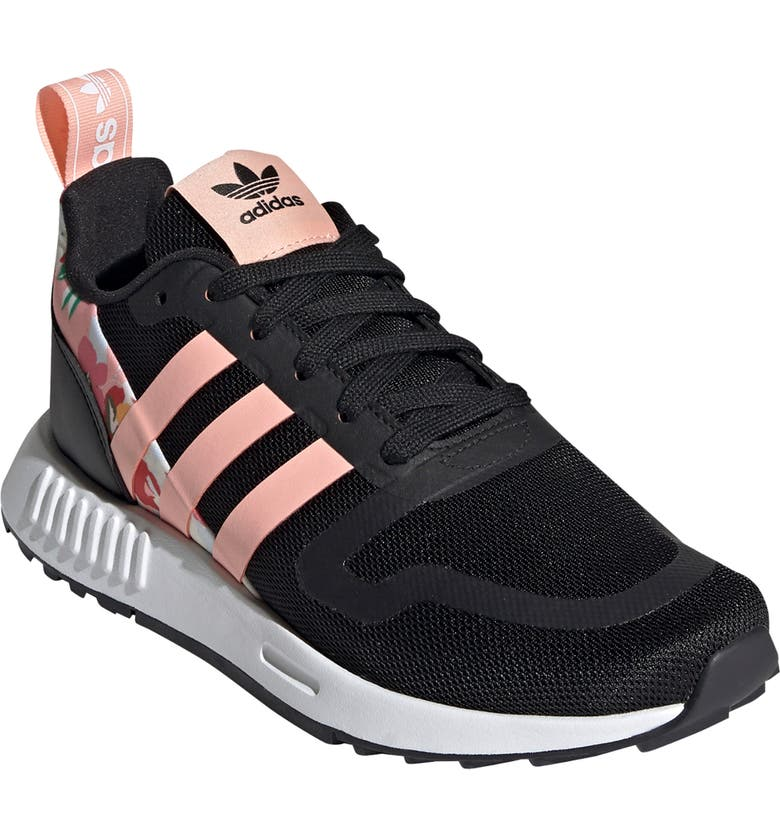 ADIDAS x HER Studio London Smooth Runner Sneaker, Main, color, CORE BLACK/ GLOW PINK/ WHITE