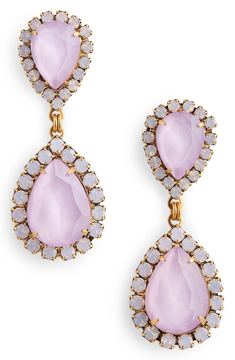 LOREN HOPE Abba Crystal Drop Earrings, Main, color, 505