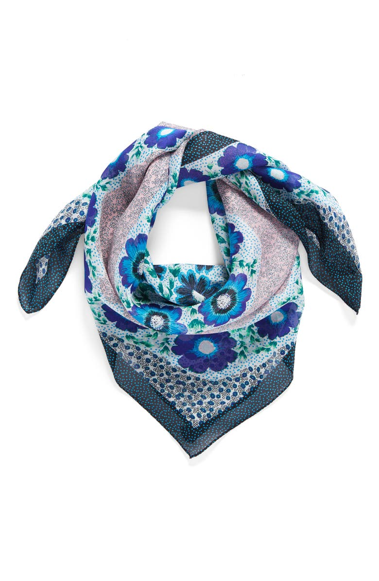 ECHO Le Jardin Square Silk Scarf, Main, color, 400