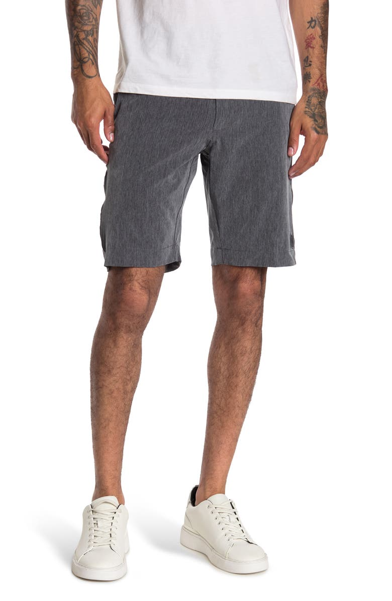 VINTAGE 1946 Micro Graph Patterned Golf Shorts, Main, color, GREY